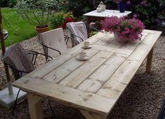 DIY table - Tuintafel van steigerhout