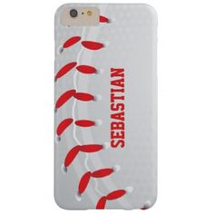 Baseball sport themed Personalized iPhone 6 plus case from #Ricaso