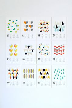 Modern 2013 wall calendar by Wendy Chung of Dozi @Etsy