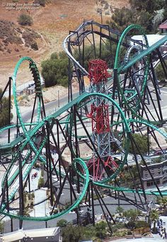 The Riddler's Revenge- a stand up coaster at Magic Mountain