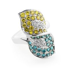 This luxurious Gold Ladies Designer Yellow White Blue Diamond Ring from our fancy color diamond jewelry collection weighs approximately 6 grams and showcases of sparkling round diamonds. Featuring an intricate multi-color diamond design and a Blue Diamond Jewelry, Diamond Design, Colored Diamonds, Beautiful Rings, Round Diamonds, Jewelry Collection, Gemstone Rings, Bling, Rose Gold