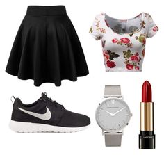 """""""☎️"""" by bkpovey on Polyvore featuring NIKE, Larsson & Jennings, Lancôme, women's clothing, women's fashion, women, female, woman, misses and juniors"""