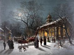 """Christmas Eve"" by Edmund Restein (1837 – 1891)"