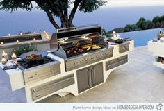 Basic Kitchen Area Concepts For Inside or Outside Kitchen areas – Outdoor Kitchen Designs Vintage Kitchen Decor, Home Decor Kitchen, Kitchen Ideas, Küchen Design, Home Design, Design Ideas, Outdoor Cooking Area, Built In Grill, Outdoor Kitchen Design