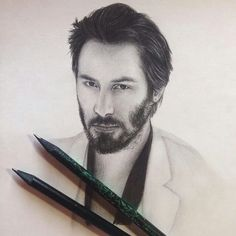 a drawing . Keanu Reeves 47 Ronin, Keanu Charles Reeves, Keanu Reeves Family, New Matrix, Little Buddha, Beautiful Soul, Portrait Art, Pop Art, Art Drawings