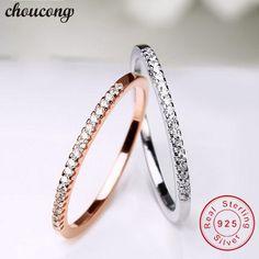 e4874dfc2e24 Cheap Choucong infinity anillo Real de plata de ley 925 anillo de boda para  mujer AAAAA