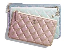 71144e28731f Chanel Spring-Summer 2019 Iridescent Crumpled Lambskin Pouches