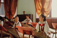 W.W. it is amazing how kids in north korea are playing the same instrument as I do! But as the guzheng evolved it became similar but different from the Chinese one.