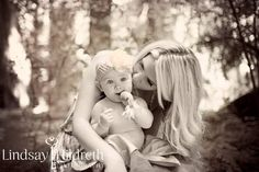 Mother and daughter photography - black and white - love