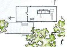 The Farnsworth House by architect Ludwig Mies van der Rohe was built in Springfield, Illinois, United States in Casa Farnsworth, Farnsworth House Plan, Architecture Plan, Contemporary Architecture, Architecture Models, Archdaily Mexico, Architecture Drawing Sketchbooks, Ludwig Mies Van Der Rohe, Small House Design
