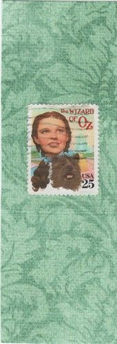 Wizard of Oz postage stamp, laminated bookmark