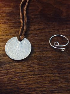 June Paper clip ring and Day pendant