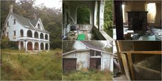 My boyfriend and I saw this place last summer and decided to check it out. I don't know how long it's been empty for, but the officer who caught us climbing out the window later told us the family who had lived there used to breed horses and Dobermans, which is why there are sketchy ass stalls in some of the bedrooms (bottom right). It also had a ladder from the kitchen to the 2nd floor, and a crawl space under the stairs to an office closet - weird.