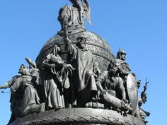 Monument of 1000 years of Russia in Novgorod. Detail