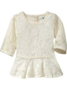 Lacey Peplum Tops for Baby | Old Navy... Still need this one.