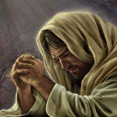 Jesus in Humble Prayer. Jesus Our Savior, Jesus Is Lord, Catholic Art, Religious Art, Religious Pictures, Croix Christ, Image Jesus, Pictures Of Jesus Christ, Jesus Pics
