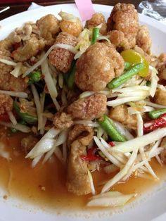 Thai food. ยำแคบหมู