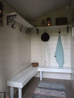Summer cottage sauna in Finland Swedish Sauna, Finnish Sauna, Portable Sauna, Outdoor Sauna, Sauna Room, Changing Room, Laundry In Bathroom, Spa Rooms, Cottage Style