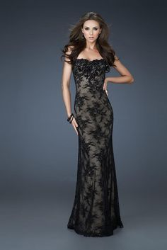 Sheath Sweethert Floor Length Applique Lace Evening Dresses 2014