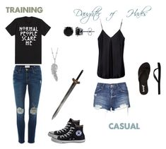 """Daughter of Hades"" by mon-fantasyfangirl ❤ liked on Polyvore featuring art"