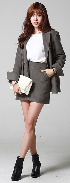 Korean Fashion Wholesale  ***The skirt would have to be just above the knee for me personally but classic outfit