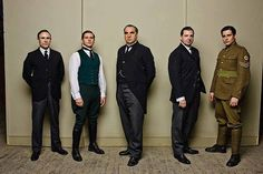 The Men of Downton Abbey. My favorite? Why, Mr. Bates, of course!