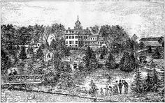 Bostwick House, a copy of a woodcut for a newspaper