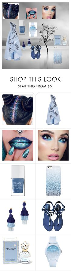 """""""beautiful in blue"""" by tomatose on Polyvore featuring Monique Lhuillier, The Hand & Foot Spa, Oscar de la Renta, Chanel, Marc Jacobs and Lacoste"""