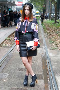 #MFW day 5: Everyone's wearing ornate styles with masculine accessories
