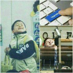 Como no amar um dinosaurinho desses Kyungsoo, Exo Chanyeol, Exo Ot12, Chanbaek, Kaisoo, Taeyong, Fanfic Exo, 5 Years With Exo, Kpop Memes