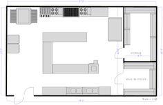 bbq restaurant kitchen layout