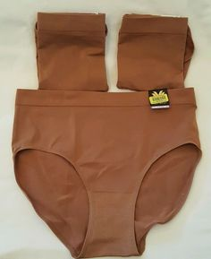 791e9703f1db 3 Wacoal B Smooth Brief and Hi Cut Panties 834175 838175 Brown Pecan Size  2X #