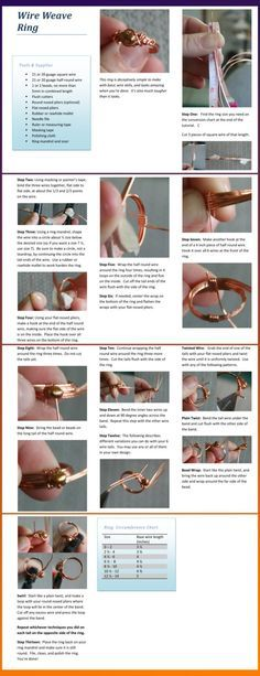 How to make an intertwining ring. The tutorial shows the wire twists in copper with the finished example in Sterling Silver. Copper wire is readily available without the cost of gold or silver. You...