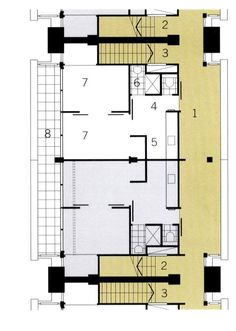 Chapter Apartment Buildings from the Latter Half of the Century – International Projects Floor Plans, Flooring, How To Plan, Architecture, Building, Projects, House, Homes, Log Projects