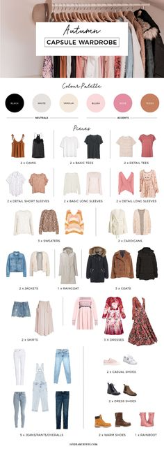 Meine 18 'Autumn Capsule Garderobe - Everything About Women - Kleidung Wardrobe Sets, Fall Capsule Wardrobe, New Wardrobe, Travel Wardrobe, Capsule Outfits, Travel Outfits, Travel Essentials For Women, Look 2018, Fashion Capsule