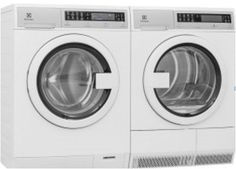 Electrolux White Compact Laundry Pair with Front Load Washer and Electric Condense Dryer in White *** More info could be found at the image url. Compact Washer And Dryer, Compact Laundry, Laundry Room Storage, Closet Storage, Stainless Steel Drum, Laundry Dryer, Gas Dryer, Laundry Appliances, Front Load Washer