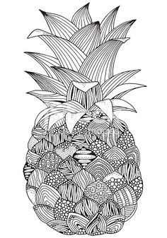 Drawn pineapple zentangle - pin to your gallery. Explore what was found for the drawn pineapple zentangle Doodle Art Drawing, Mandala Drawing, Art Drawings, Drawing Ideas, Pineapple Drawing, Pineapple Art, Cute Coloring Pages, Coloring Books, Drawing Tips