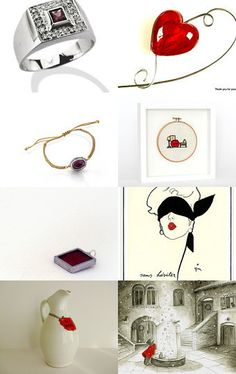 red point by MARIA ENRICA NARDI on Etsy--Pinned with TreasuryPin.com
