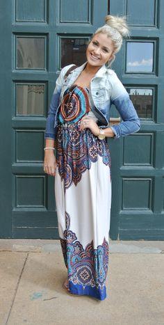easy breezy paisley print maxi dress