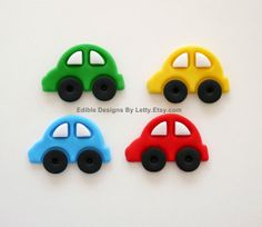 12 Edible Fondant Car Cupcake Toppers by EdibleDesignsByLetty, $18.00