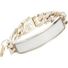 Ann Dexter-Jones White Onyx ID Bracelet
