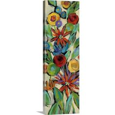 Trademark Fine Art 'Confetti Floral Iii' Canvas Art by Silvia Vassileva, Size: 16 x Multi-color Abstract Canvas, Canvas Wall Art, Canvas Prints, Thing 1, Art Themes, Art Google, Diy Painting, Canvas Size, Art Reproductions