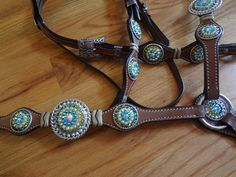 Custom tack dripping with Swarovski crystals by Rodeo Moon.  www.rodeomoon.com