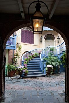 Court des Anges, New Orleans Square at Disneyland CA one of my favorite places to go for a break from the crowds