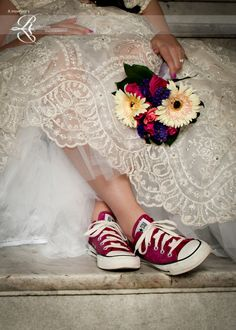 Converseshoes29 On Pink Wedding DressesPink