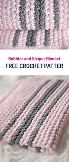 Bobbles and Stripes Blanket Free Crochet Pattern