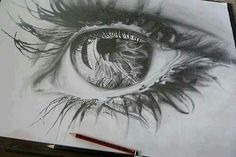 Pencil drawing eye
