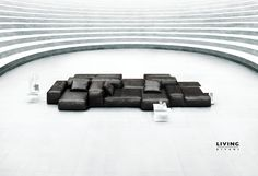 Press advertising campaign Piero Lissoni, Extrasoft modular composition, Family Lounge side-table and low tables design Victor Vasilev. Sofa Furniture, Luxury Furniture, Modern Furniture, Furniture Design, Black Sofa, Low Tables, Modular Sofa, Furniture Manufacturers, Design Inspiration