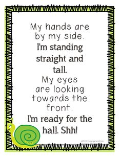 11 Fun and Simple Hallway Transitions for Kindergarten Classroom management tips: Classroom management posters: 6 Fun and Simple Hallway Transitions - KindergartenWorks: Kindergarten Songs, Preschool Songs, Kindergarten Behavior, Preschool Activities, Classroom Management Tips, Classroom Organization, Preschool Behavior Management, Classroom Routines And Procedures, Organizing Clutter