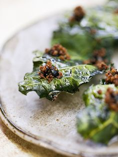 GET A TASTE OF THE JAMES BEARD AWARDS RISING STAR NOMINEES (Those Kale Chips look great and check out the Grilled Asparagus with Goat Cheese Mousse. Mmmm...)